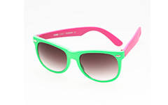 Wayfarer sunglasses in green / pink