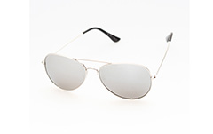 Silver aviator / pilot sunglasses with mirror lenses
