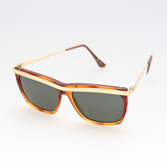 Cheap sunglasses with matt gold finish