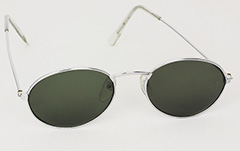 Oval unisex sunglasses in silver - Design nr. 3009