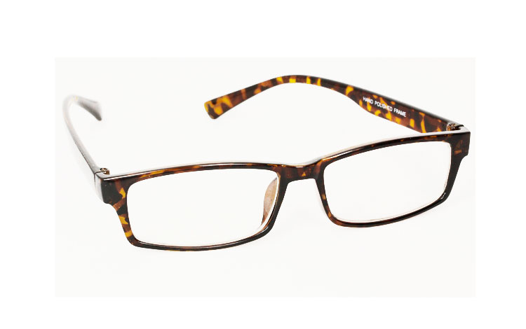 Fine square non-prescription glasses