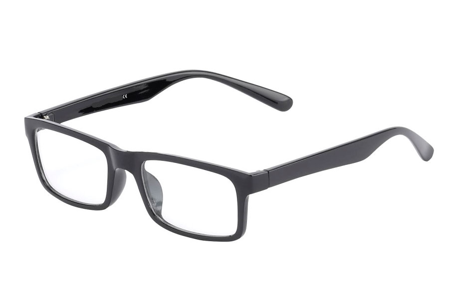 Black non-prescription glasses - Design nr. 3016
