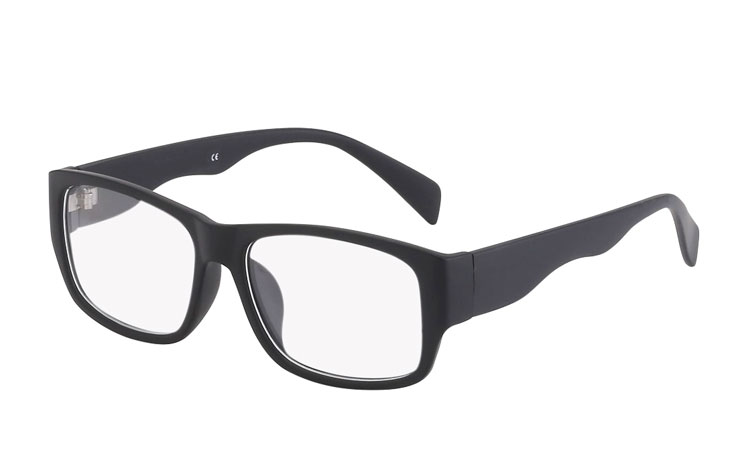 Square non-prescription glasses. Unisex model - Design nr. 3020