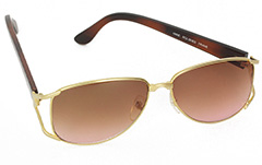 Hippie ladies oversize sunglasses in metal