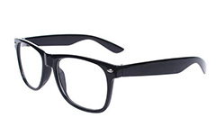 Non-prescription Wayfarers in black - Design nr. 303