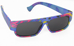 Colourful kids sunglasses with UV protection, fits 1-3 years - Design nr. 3034