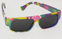 Colourful kids sunglasses with UV protection, fits 1-3 years - Design nr. 3035