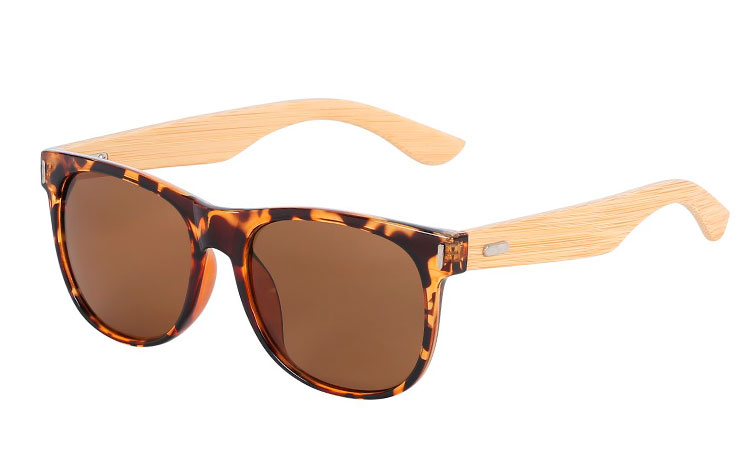 Brown wayfarer with bamboo - Design nr. 3045