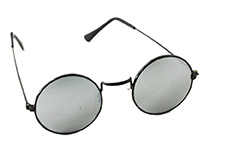 Round sunglasses in metal with mirror lenses