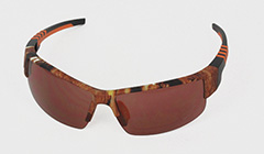 Golf sunglasses with patterns
