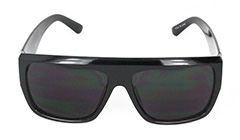Black, robust sunglasses for men