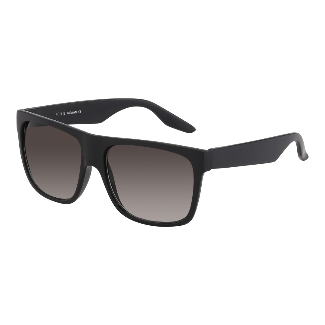 Simple black sunglasses with matt stripes