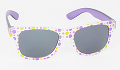 Matte sunglasses for kids with polkadots - Design nr. 3095