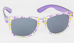 Kids sunglasses with pink and purple flower patterns for only 69 kr.  - Design nr. 3098