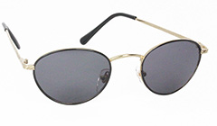 Black oval fashionable sunglasses - Design nr. 3122