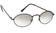 Black oval sunglasses with smokey lenses - Design nr. 3123