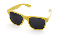 Yellow wayfarer sunglasses