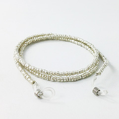 Glasses cord with silver pearls - Design nr. 3146