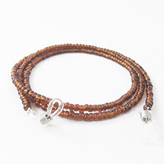 Glasses cord with brown pearls - Design nr. 3150