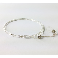 Beautiful silver glasses cord for women - Design nr. 3166