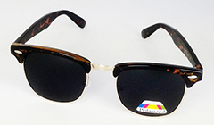 Leopard brown clubmaster polaroid sunglasses - Design nr. 3175