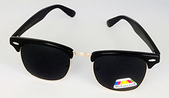 Black clubmaster polaroid sunglasses - Design nr. 3176