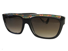 Black sunglasses with flower pattern - Design nr. 323