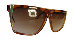 Light brown sunglasses with rims