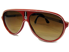 Red aviator millionaire sunglasses - Design nr. 330