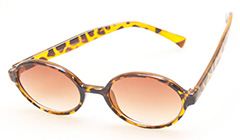 Oval sunglasses in brown - Design nr. 393