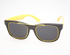 Wayfarer-like sunglasses with gold metal