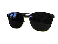 Clubmaster with dark lenses