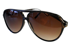 Dark brown aviator