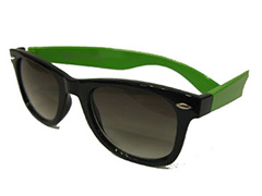 Wayfarer black with neon green