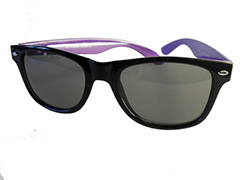 Black with purple wayfarer sunglasses