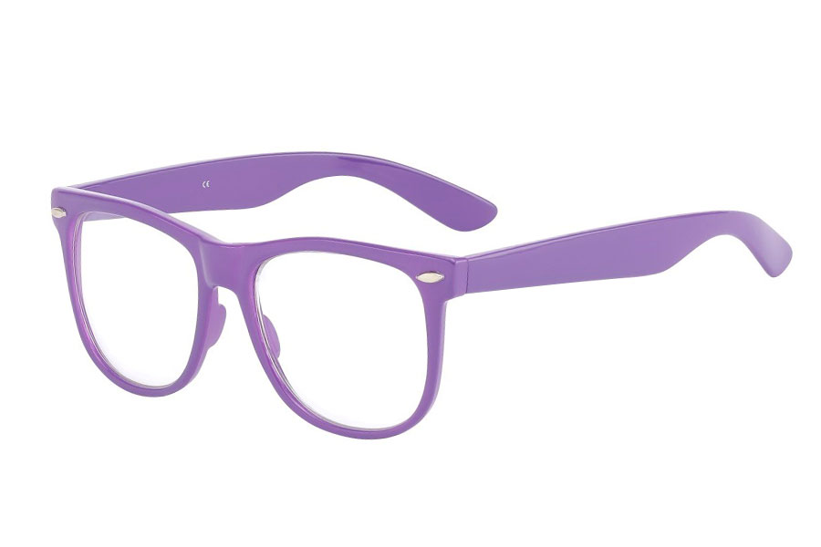 Purple glasses, non-prescription