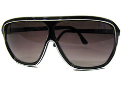 Black sunglasses with white stripe - Design nr. 848