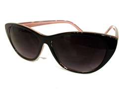 Cateye sunglasses - black with pink