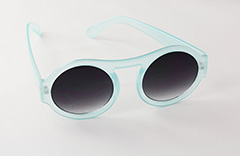 Mint blue sunglasses in round design
