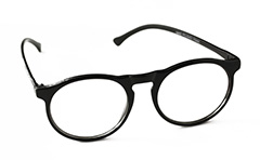 Black modern glasses in round design