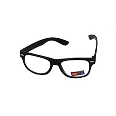 Non prescription child glasses, black wayfarer