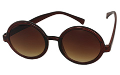 Orange-brown round sunglasses - Design nr. 951