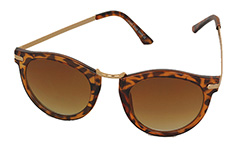Lovely light tortoiseshell round sunglasses - Design nr. 963