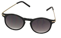 Black feminine round sunglasses - Design nr. 980