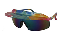Colourful sunglasses in retro look with shade