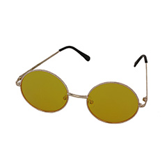 Round Lennon sunglasses with yellow lenses